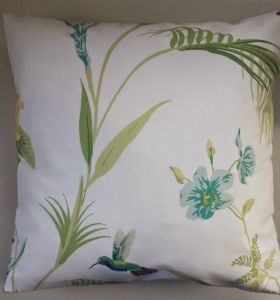 Cushion Cover in Laura Ashley Eden Hummingbird 16""
